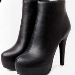 Black-Ankle-length-boots-ultra-high-heels-platform-boots-small-yards-31-32-thin-heels-boots-33
