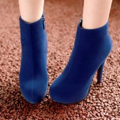 Blue-Ankle-length-boots-ultra-high-heels-platform-boots-small-yards-31-32-thin-heels-boots-33