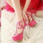 pink gladiator size 5 heels petite pumps