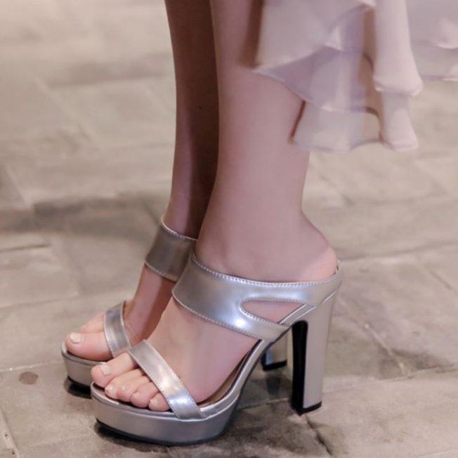 sandals petite size 4 rave heels pumps EDM shoes