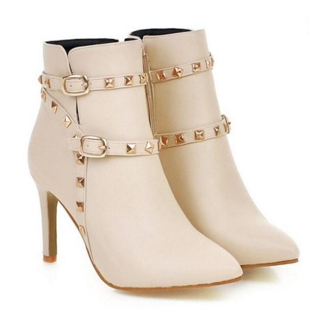 ankle boots studded