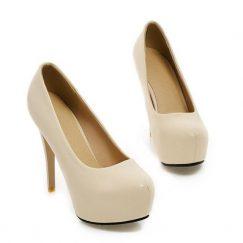 euro 33 cream high heels
