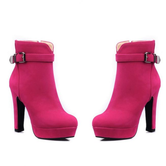hot pink ankle boots