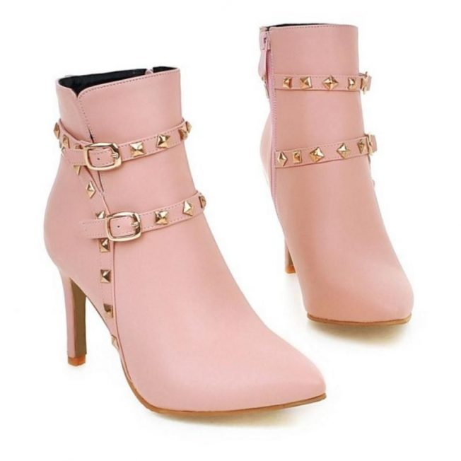 small sized petite studded ankle boots