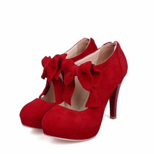 red size 3 ankle boots