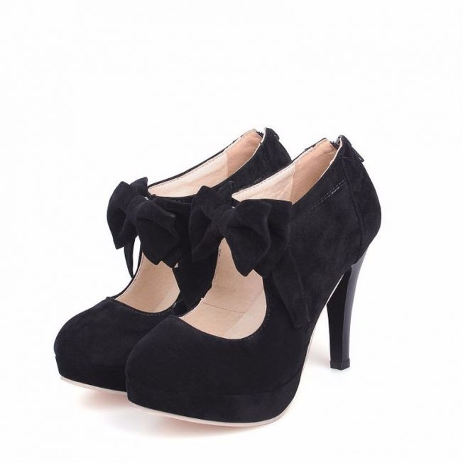 petite cute ankle boots bow size 13