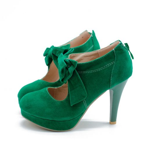 green petite ankle boots