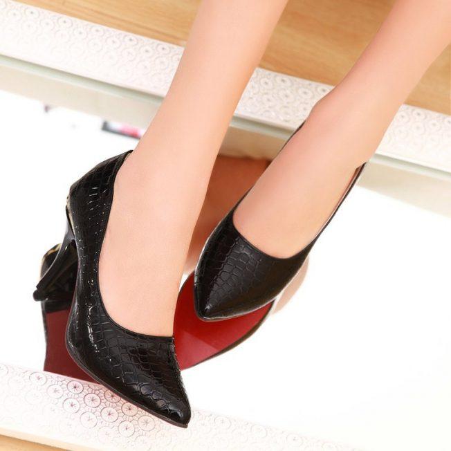 snake skin petite heels