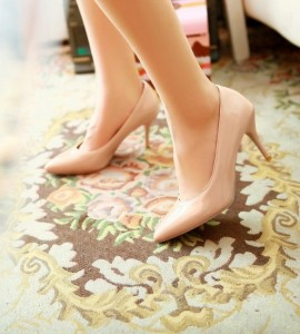 petite nude heels size 2