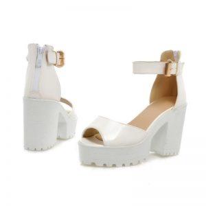 petite ankle strapped platform sandals