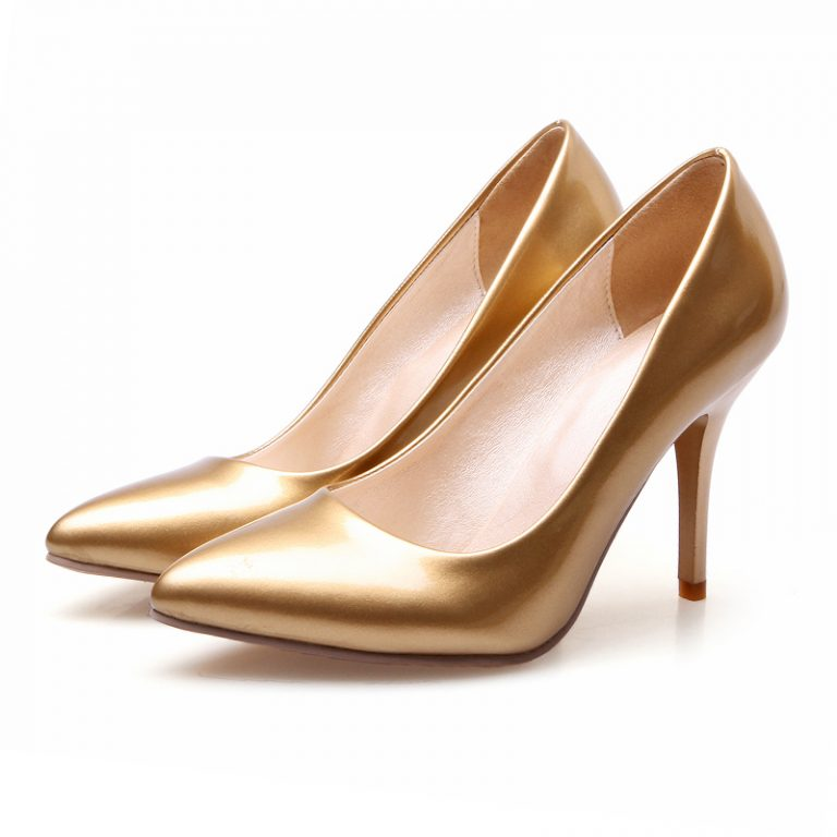 Gold colored cinderella high heels size 3